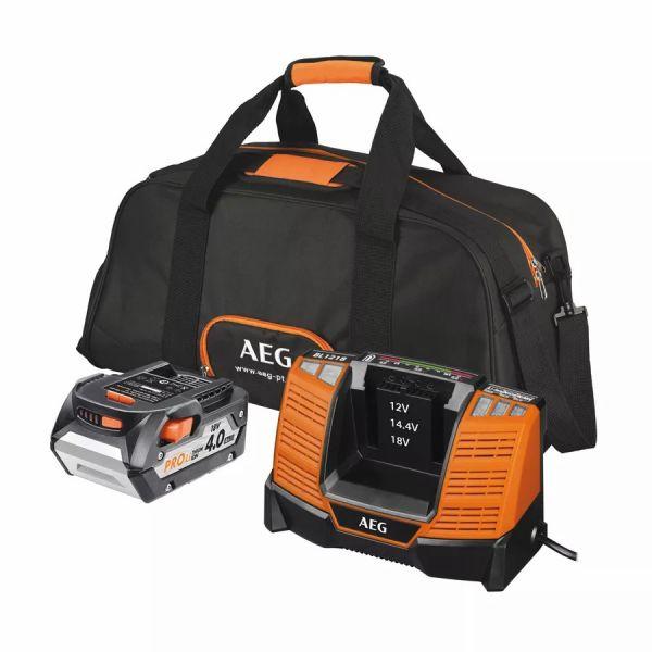 AEG - SET L 1840 BL Σετ Μπαταρία και Φορτιστής 18V 4.0Ah PROLITHIUM-ION™ + Δώρο